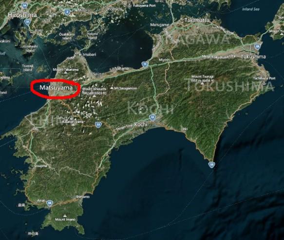 Matsuyama is in northwestern Shikoku