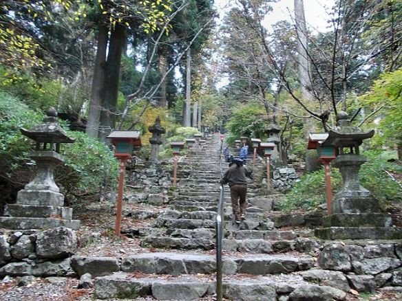 """Hikosan Jingu Omotesando 01"" by STA3816 - Own work. Licensed under CC BY-SA 3.0 via Commons. This is the set of stairs which goes up to one of the Hikosan shrines."