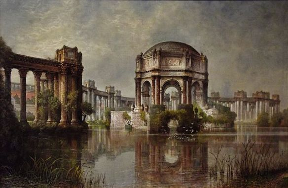 """Palace of Fine Arts and the Lagoon"" by Edwin Deakin"