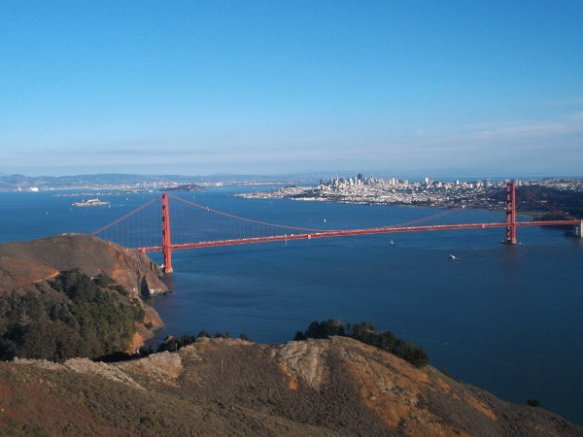 The Golden Gate Bridge, as seen from Marin County