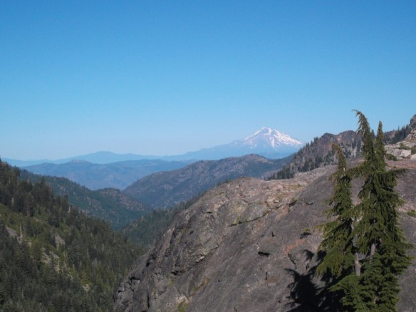 Mt. Shasta, as seen from the Marble Mountains