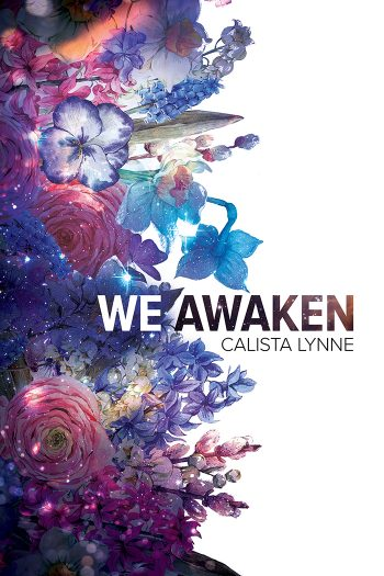 The cover of We Awaken, should a bunch of flowers sprouting from the left side, and blank space on the right side.