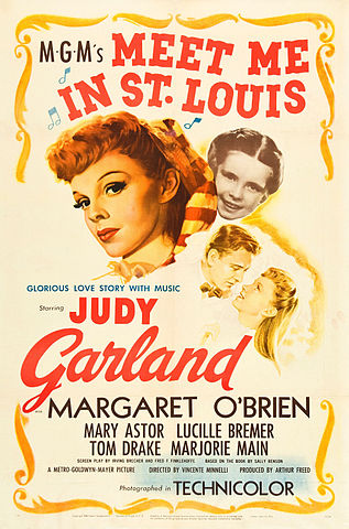 "Movie Poster for ""Meet Me in St. Louis"" starring Judy Garland"