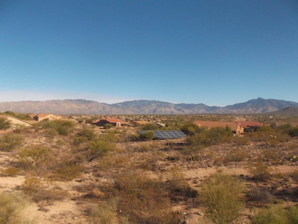 A housing development in the desert.
