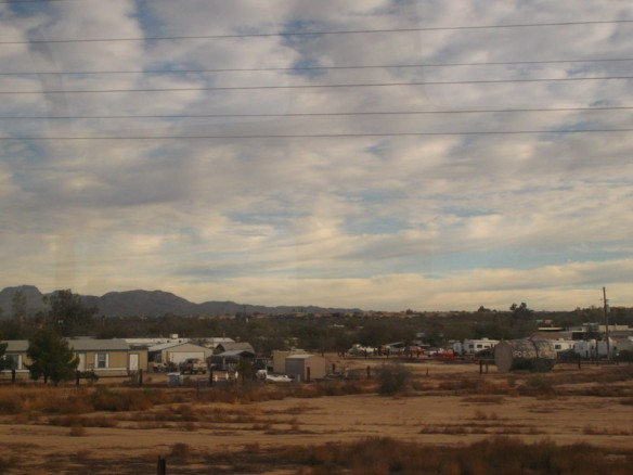 A trailer/RV park in Arizona