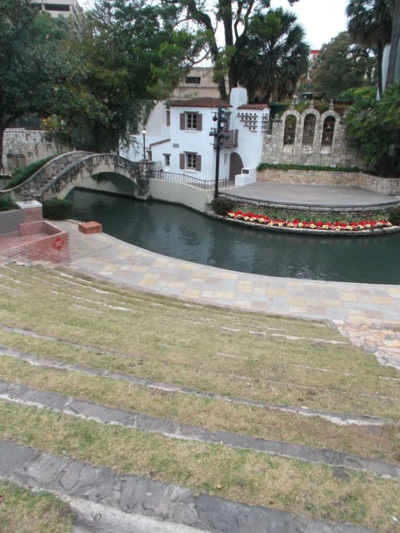 It would have been awesome to watch a show at this 'river' theatre - but not in the rain.