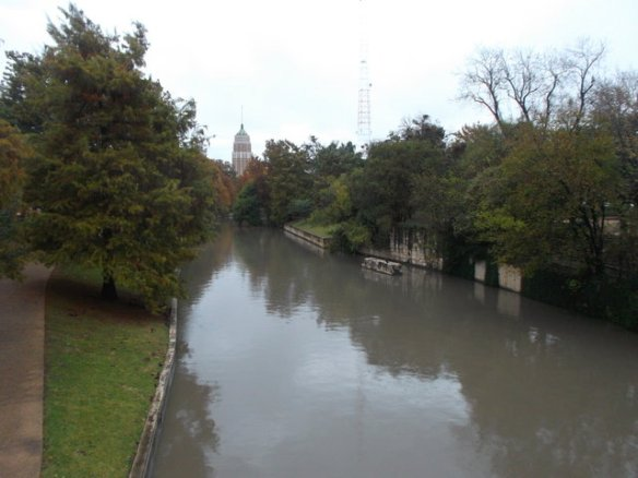 Another view of the San Antonio river