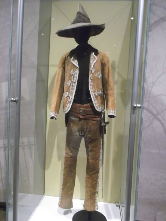 This was a Mexican ranger outfit. It belongs to the Guerra family, and is on display at the museum with their permission. The Guerra family has been in Texas since 1748 - they have been subjects/citizens of Spain, Mexico, the Texas Republic, the United States, the Confederacy, and then the United States again.