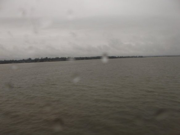This is Lake Houston - an awfully large lake to cross on a train!