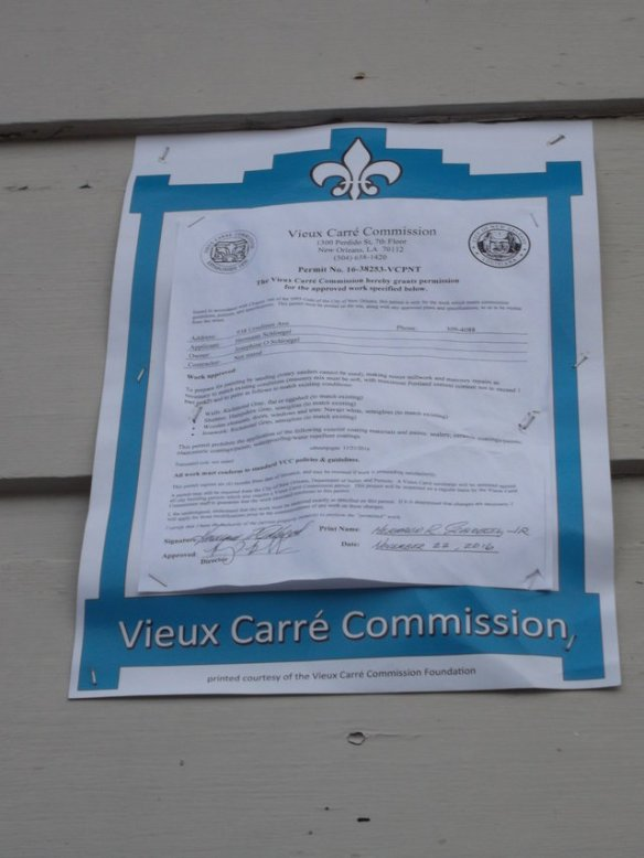 The Vieux Carré aka the French Quarter is the oldest 'historic' neighborhood in the USA. Since the 1930s, this commission has been regulating all construction in the French Quarter to maintain its historic character.