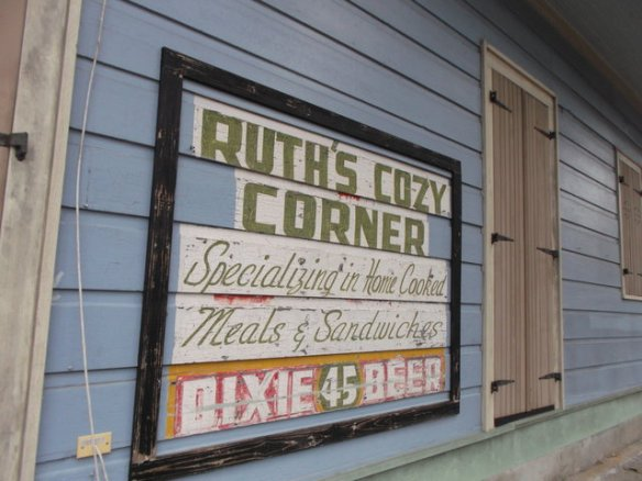 The sign says 'Ruth's Cozy Corner'