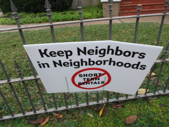 In both Treme and the Garden District I saw these anti-AirBnB/short-term rental signs. As a resident of San Francisco, I am familiar with the politics of short-term rentals over the internet.