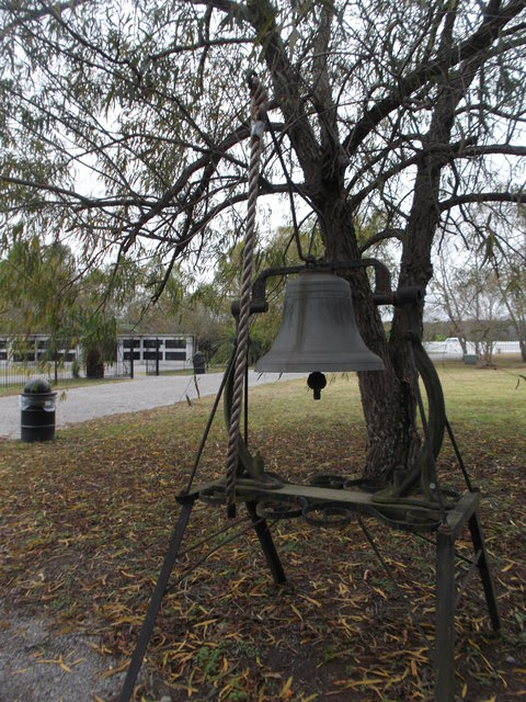 This is one of the original plantation bells, which regulated life on the plantation. Visitors are welcome to ring the bell to commemorate the slaves.