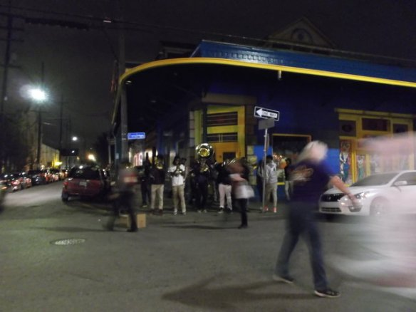 I saw this band playing on Frenchman Street.