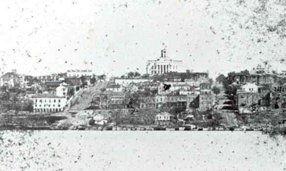 Vicksburg in 1860, right before the Civil War.