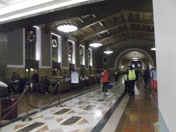 The large and historic train lobby