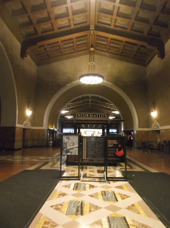 the entrance hall of Los Angeles Union Station