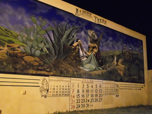 A mural in Alpine, Texas.