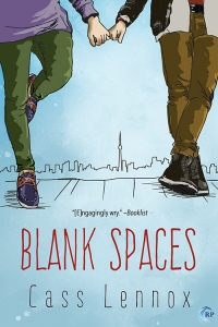The cover of Blank Spaces by Cass Lennox