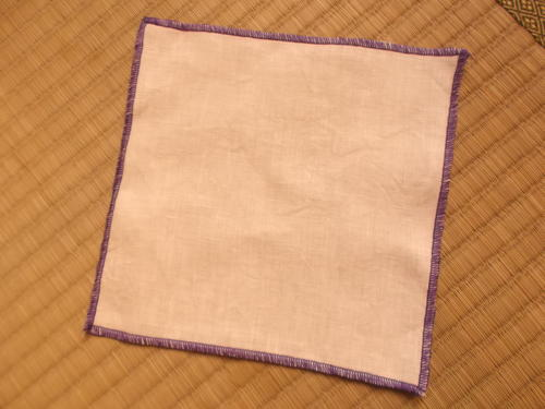 a square piece of linen cloth